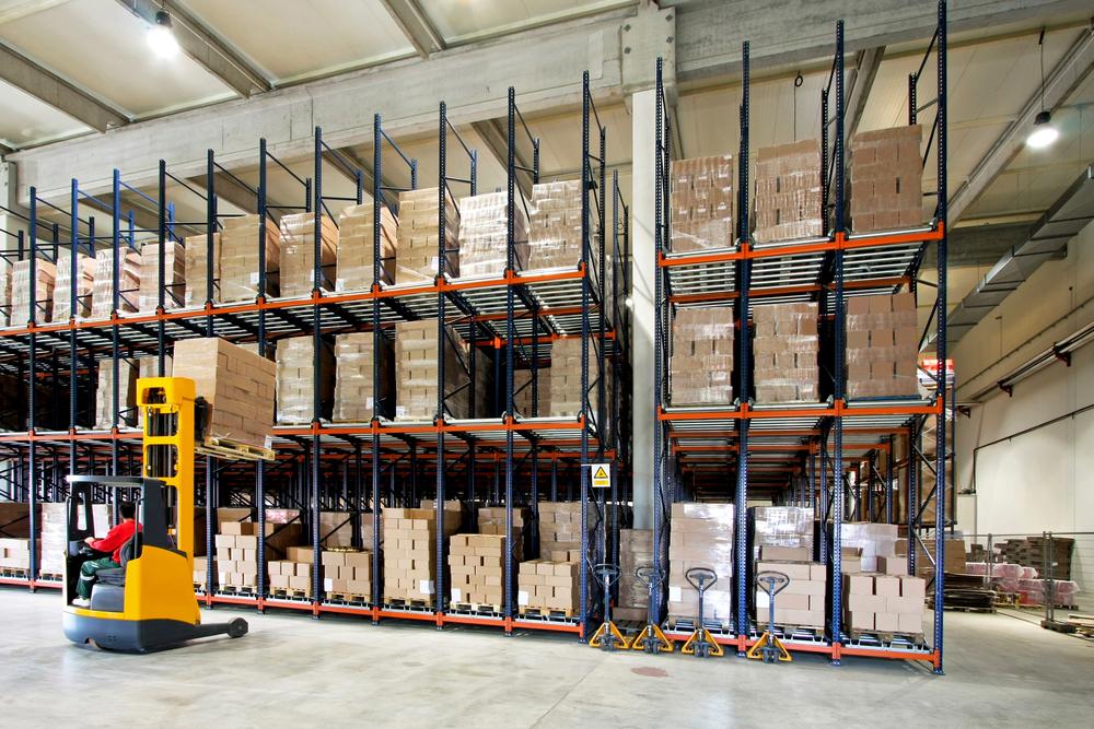 Fork lift warehouse